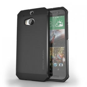 HTC One (M8) Razor Armor Dual Layer Protective Case – Matte Black
