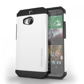 HTC One (M8) Razor Armor Dual Layer Protective Case – Pearl White
