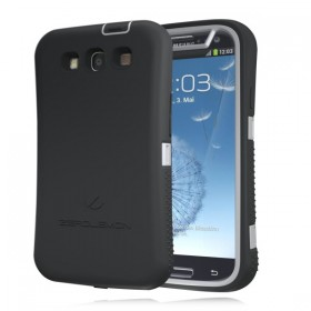 Samsung Galaxy S III ZeroShock Metal Grey -Viper Black Case