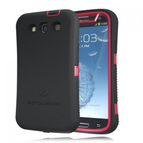 Samsung Galaxy S III ZeroShock Rugged Red -Black Case