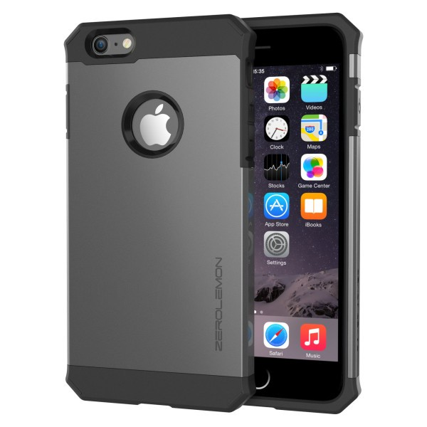 ZeroLemon iPhone 6 Plus Razor Armor Dual Layer Protective Case- GunMetal Gray