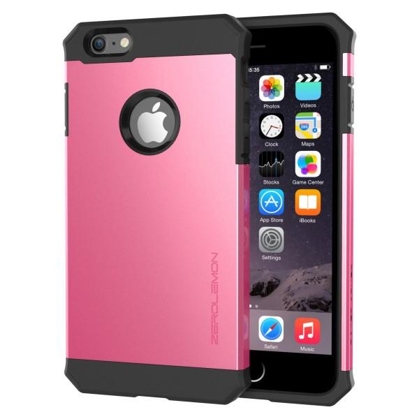 ZeroLemon iPhone 6 Plus Razor Armor Dual Layer Protective Case- Hot Pink