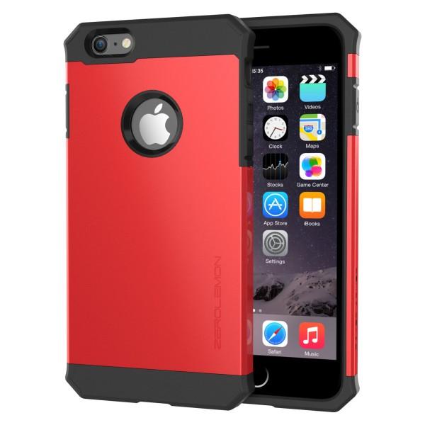 ZeroLemon iPhone 6 Plus Razor Armor Dual Layer Protective Case- Sharp Red