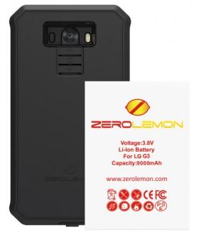 LG G3 9000mAh ZeroShock BlackCaseScreen ProtectorHolster